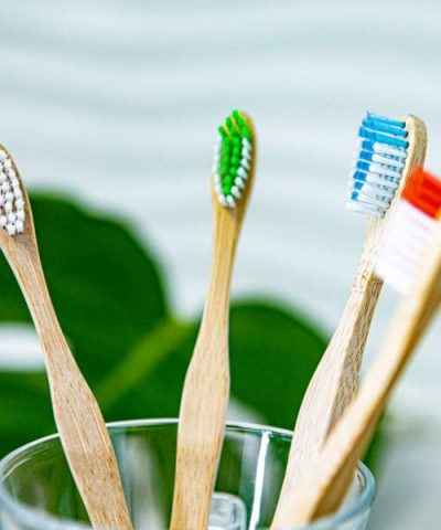 4-pack Bamboo toothbrushes
