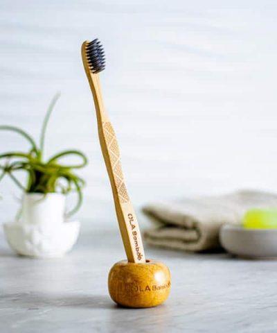 Porte brosse à dents en bois