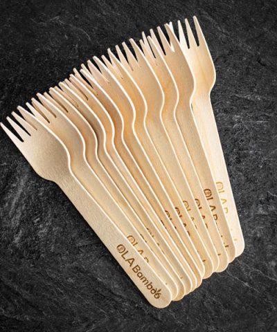 Compostable wooden fork