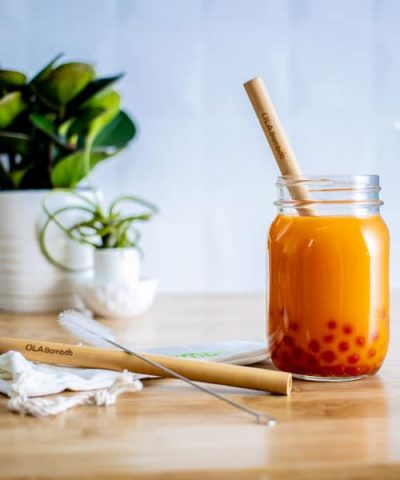 Paille en bambou pour Smoothies