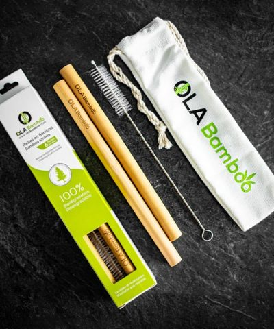 Reusable smoothie straw with cleaning brush