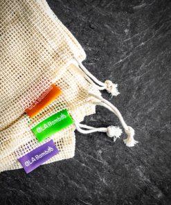 3 sacs pour épicerie en coton