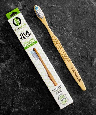 Brosses à dents en bambou OLA Tech emballage recyclable