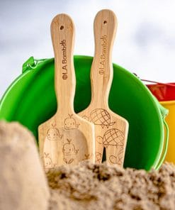 Beach toys for kids - shovel and rake with whale and turtle engravings