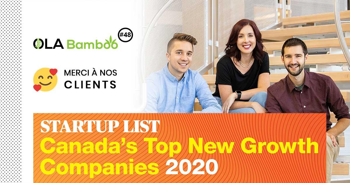 OLA Bamboo - Canada's Top New Growth Companies