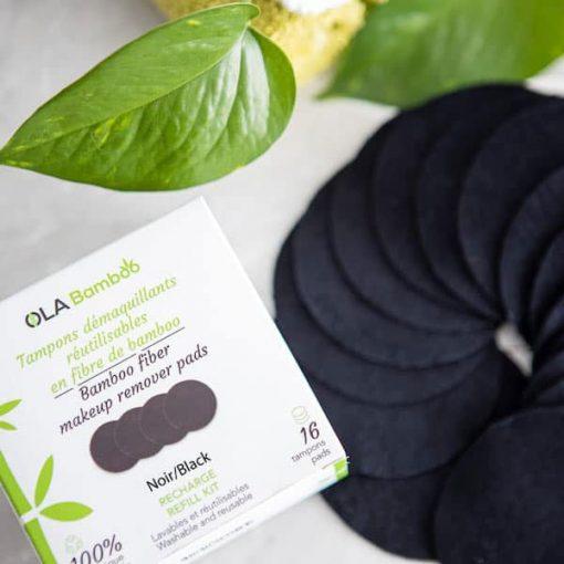 makeup remover pads reusable - black